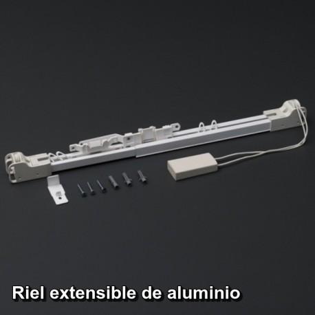 Riel extensible de aluminio