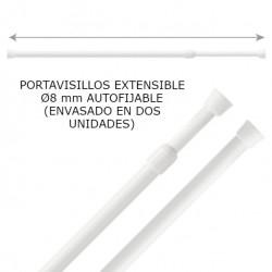 PORTAVISILLOS EXTENSIBLE Ø8 mm AUTOFIJABLE